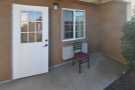 I had a little patio and everything. Plus, importantly, a back door.