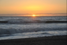 As well as the sunset, I was also enjoying watching the waves comes in.