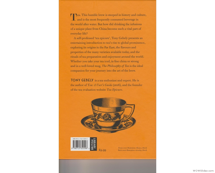 ... and the back cover, complete with fancy tea cup.