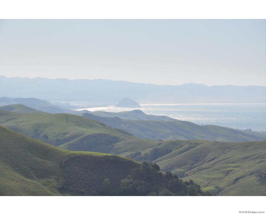 ... where Morro Rock stands out from the surf.