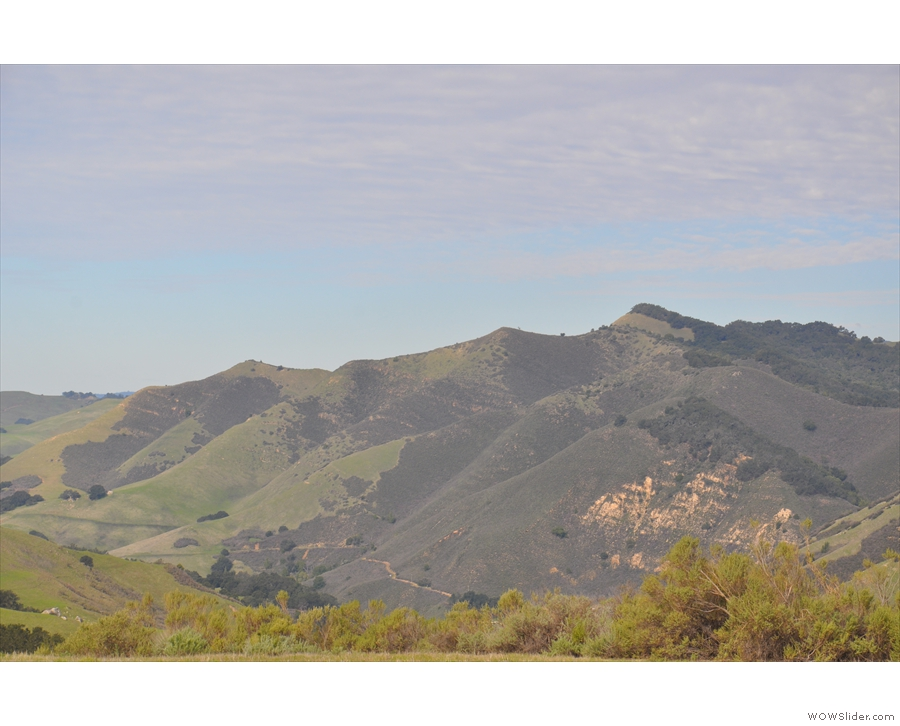 This is the view to the north, overlooking the upper end of Green Valley.