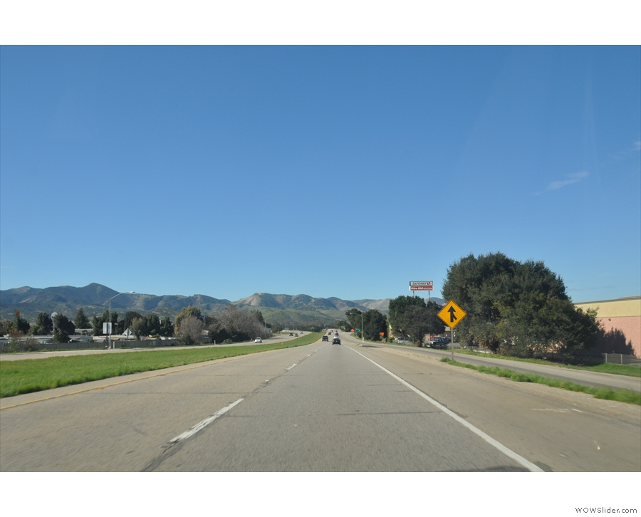I passed through King City, on my way to Salinas where I parted company with US 101.