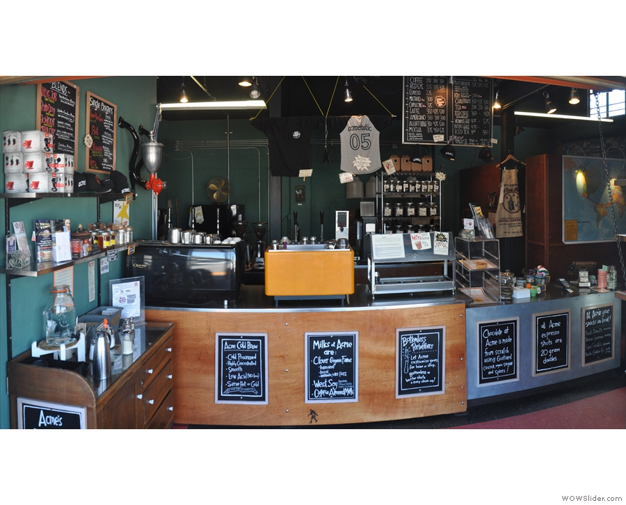 ... a friend I'd made through Instagram. Inside was a lovely coffee bar and roastery...