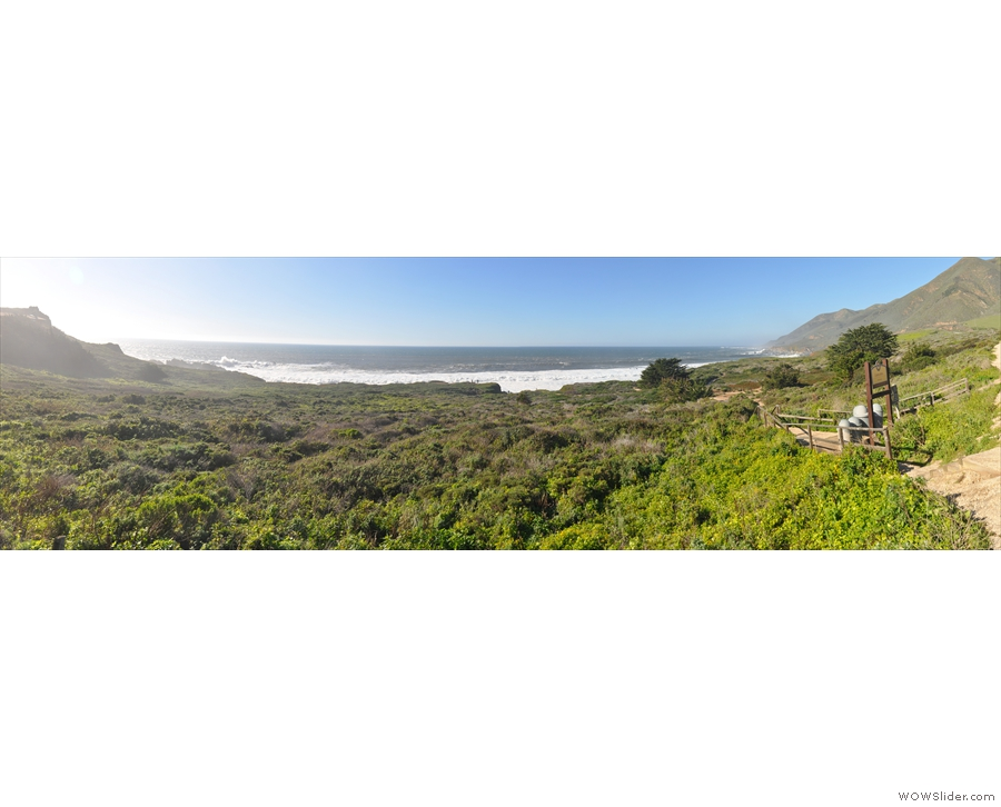 ... there is a path, which leads down from the turnout as you can see in this panorama.