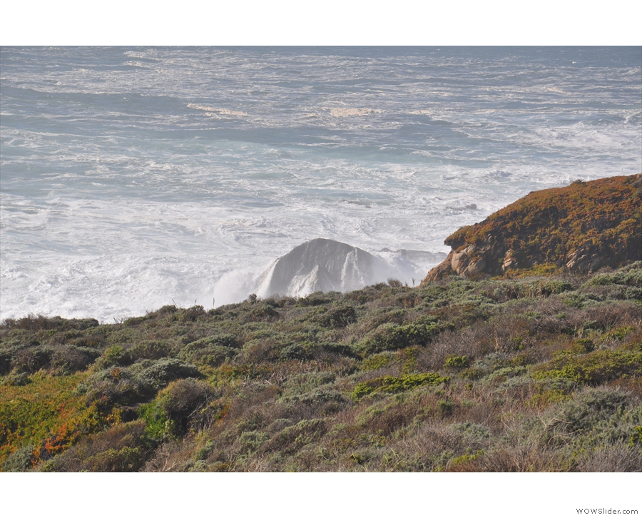 Another rock being pounded by the waves!