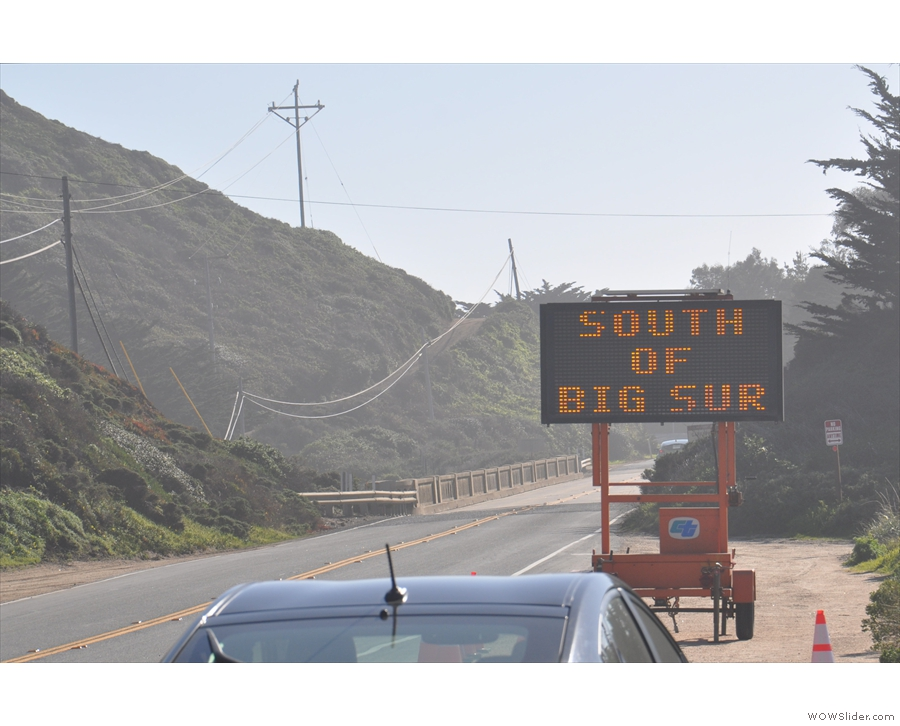 ... although not until the small settlement of Big Sur, which was still some way off.