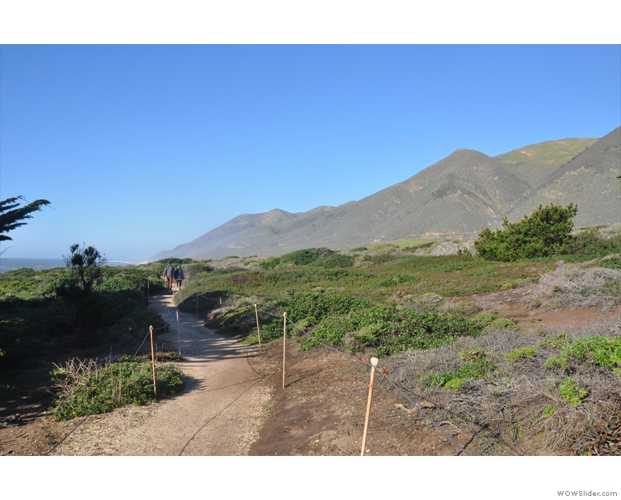 In fact, there are plenty of hiking trails here. This one heads north along the top of the...