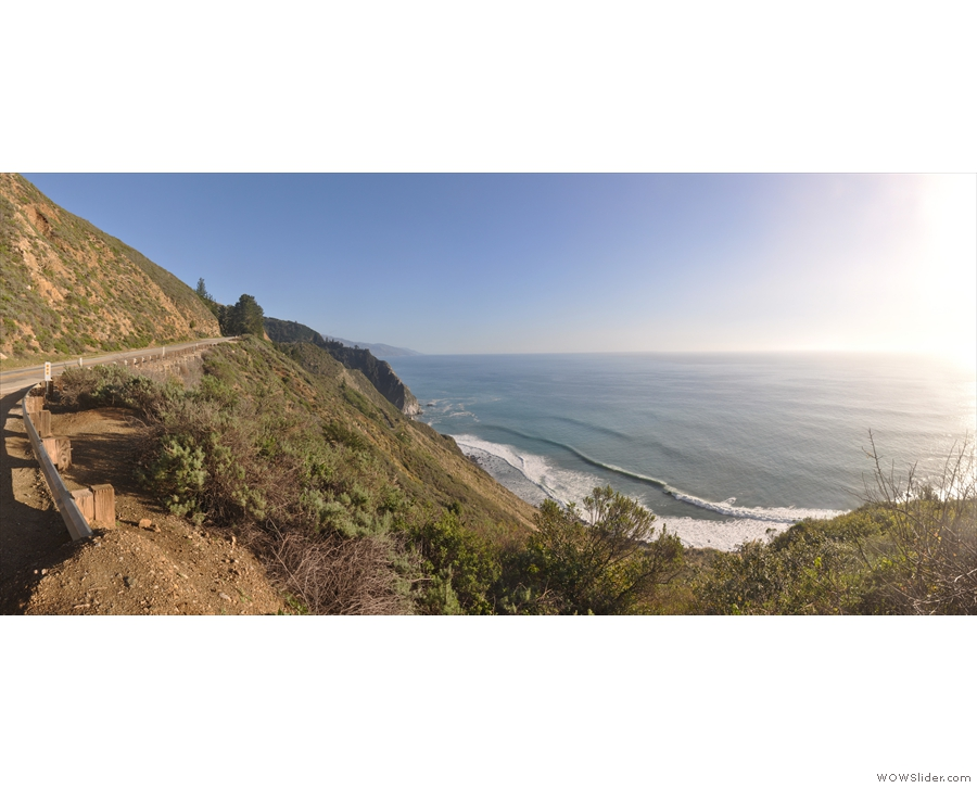 ...  just south of Castro Canyon, not long after the road had emerged high over the coast.
