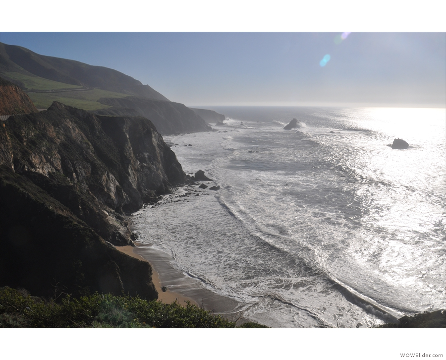 The view south, along the coast, where I'll be going next.