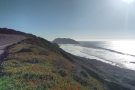 And this is the view south, with Point Sur and its lighthouse in the distance.