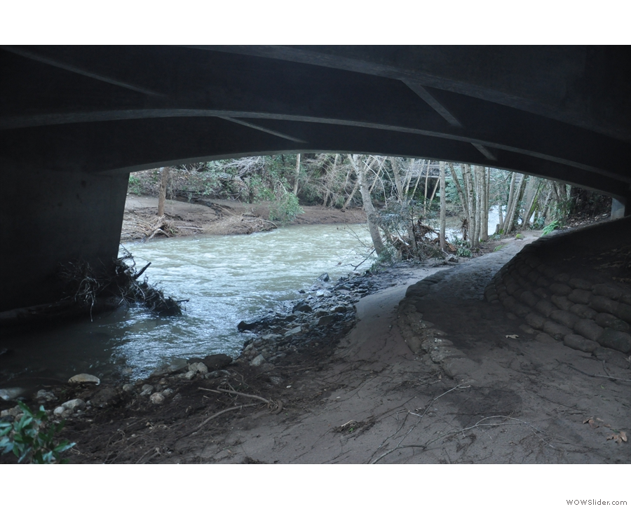 ... was closed, but I was able to get down to the river bank (this is under the road).