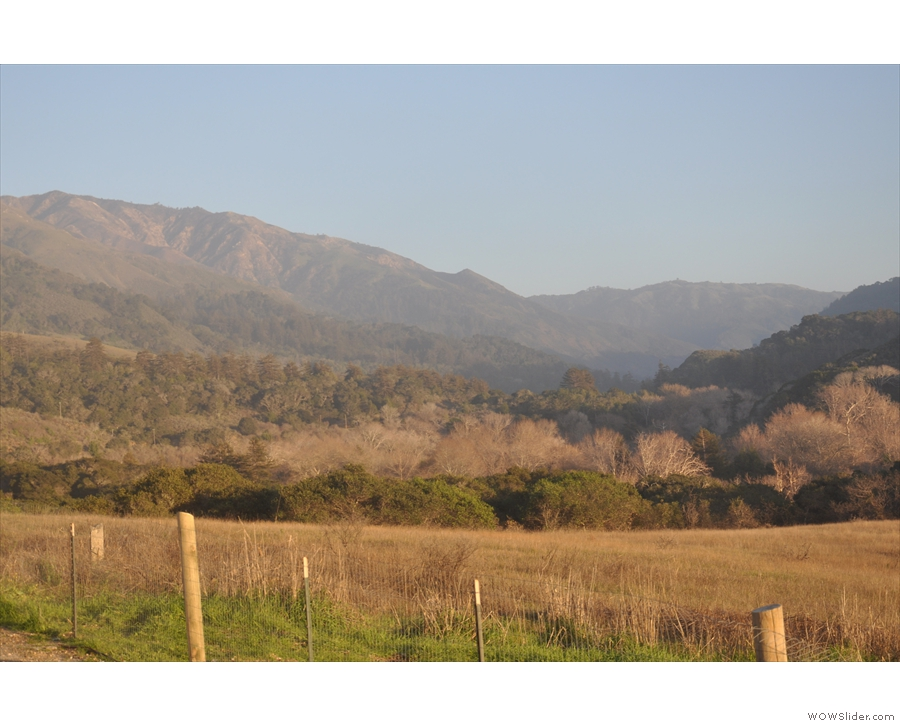 ... the valley of the Big Sur River.