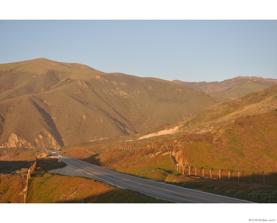 ... of the sweep of the coast is that this little notch in the hills hides the Little Sur River.