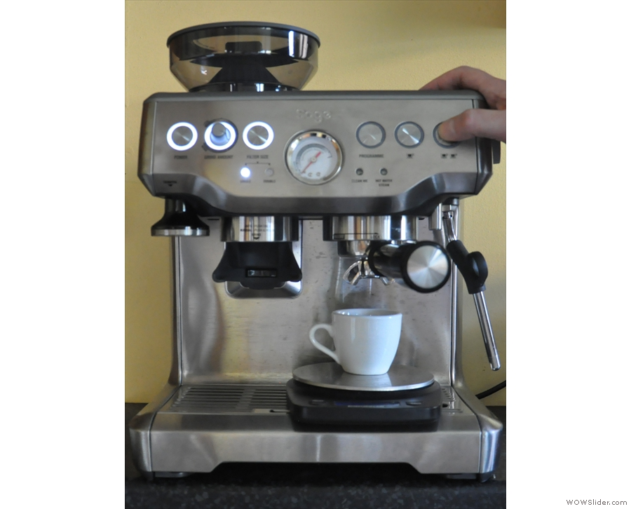 This is a typical extraction from that original photoshoot. I press the two-cup button...