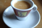 This is the outcome, another pretty decent espresso (in my opinion). However, it's not...