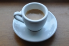 And here's the end result, a pretty decent espresso, even if I say so myself.