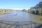 A panoramic view upstream from the middle of the bridge. Then it was time to go.