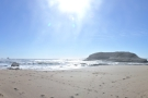 And here's a full panorama of the beach from south (left) to north (right).