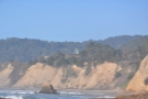 A view across to the third bay. Check out that neat structure at the top of the cliff.