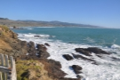 The view south along the coast from the very tip of the lighthouse...