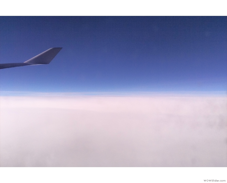 It was a daytime flight, all 10 hours of it. Not a lot of views though!