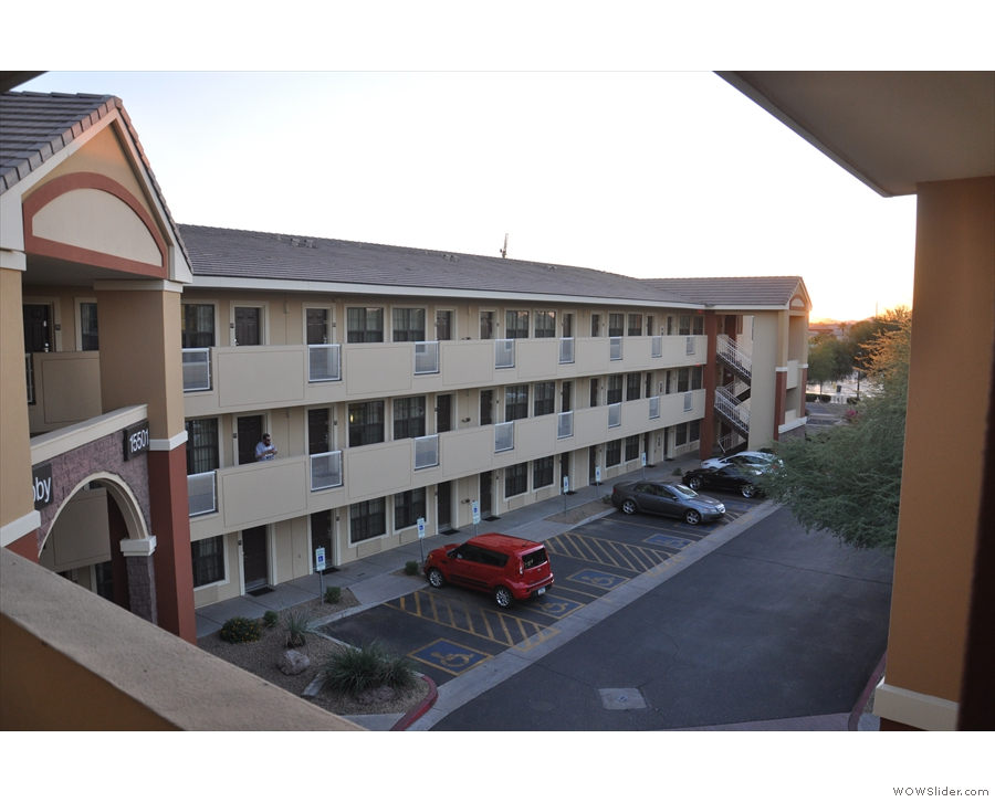On my first visit, I stayed out in Scottsdale, northeast of Phoenix, in an Extended Stay.