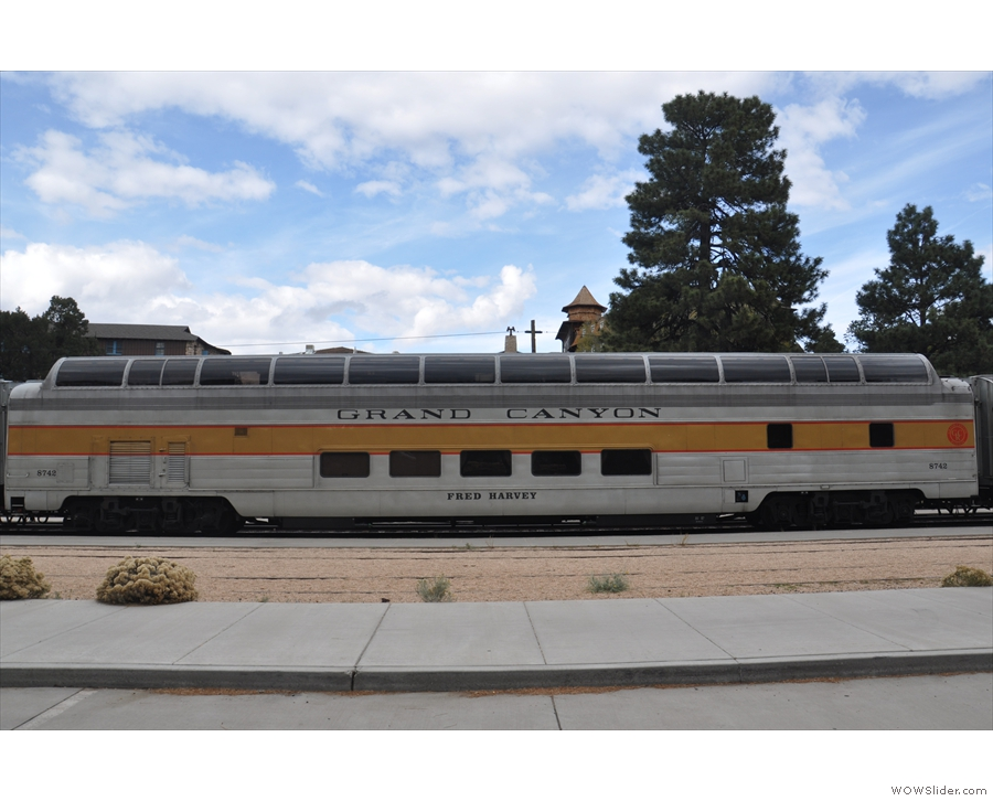 ... which links the town to the south rim, with observation cars like this one.