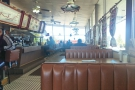 ... where I took a seat at one of the booths. For some reason, I love old American diners.