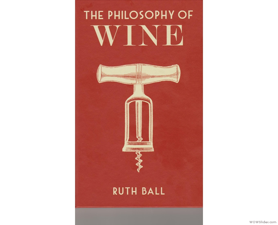 The front cover of The Philosophy of Wine...
