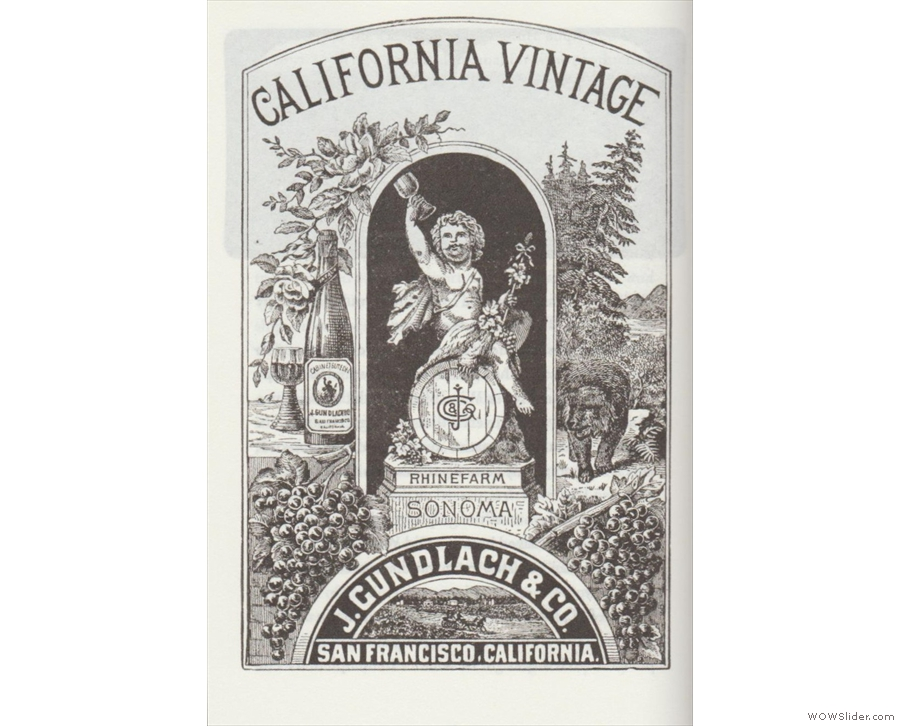 Wine in the New World: an 1889 advertisment for California wine.