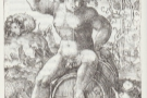 Wine's long history: a faun from Greek myth sits on a wine barrel (from a 1522 engraving).