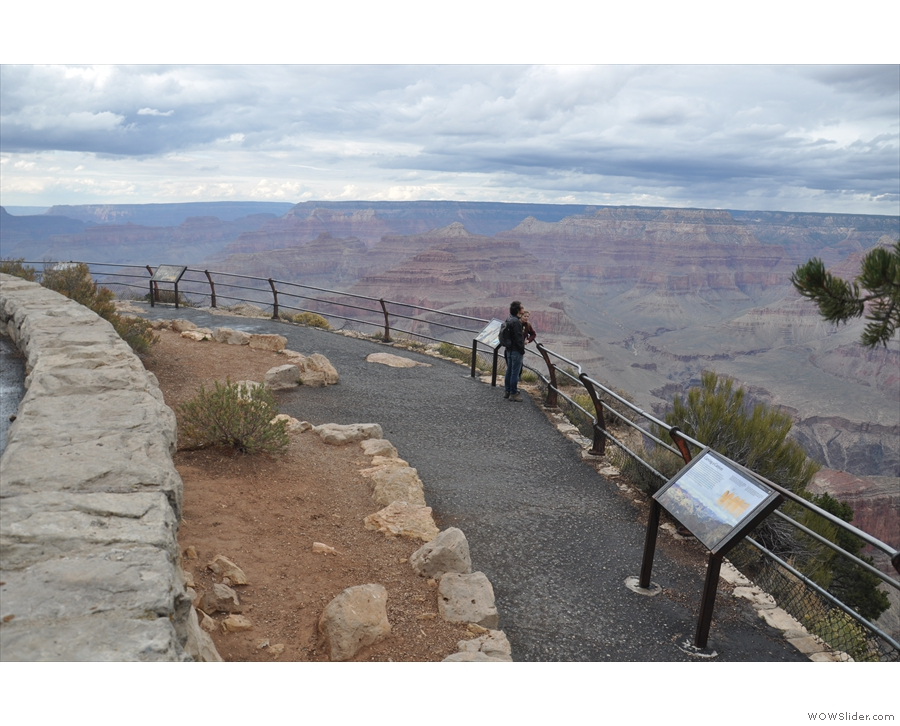 There are numerous viewpoints along the way. Some are large, with railings...