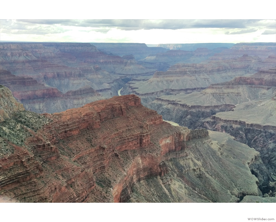 Even better, looking to the northwest, there's the Colorado River again. It's probably...