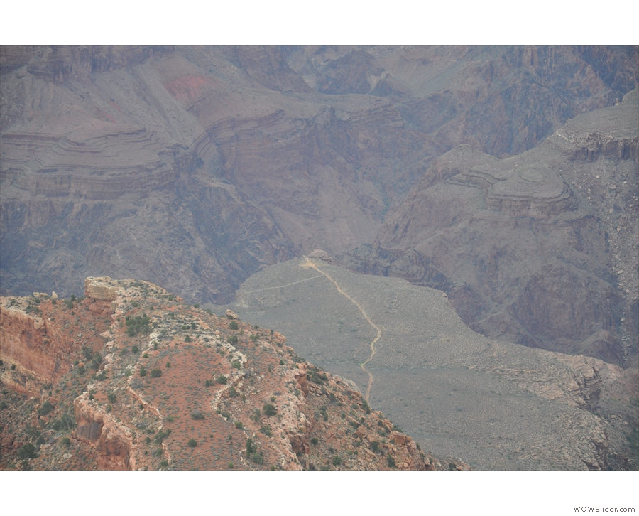 ... with the trail to Plateau Point beyond that.