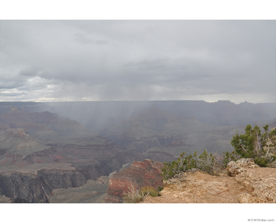 I was lucky in this case, since the rain was falling out in the canyon itself.
