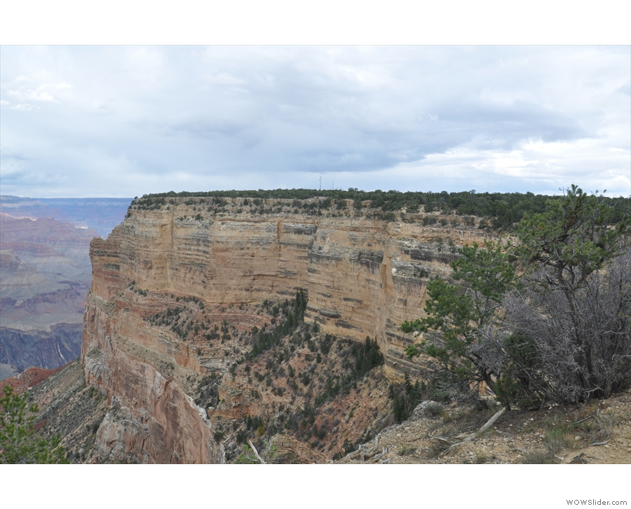 The view back towards Hopi Point.