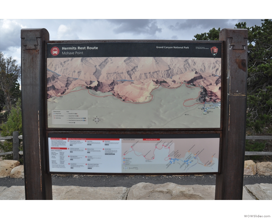 Mohave Point is about a third of the way along my hike, but I'd used almost half my time!