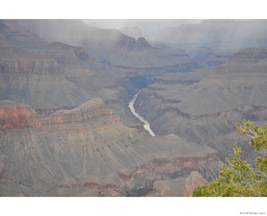 ... which (when in flood) flows into the Colorado River at the bottom of the canyon.