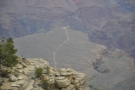 ... Bright Angel Trail follows to the river. The trail you can see leads to Plateau Point...