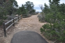 I set off again, heading towards Hopi Point, at which point the paved path ran out.