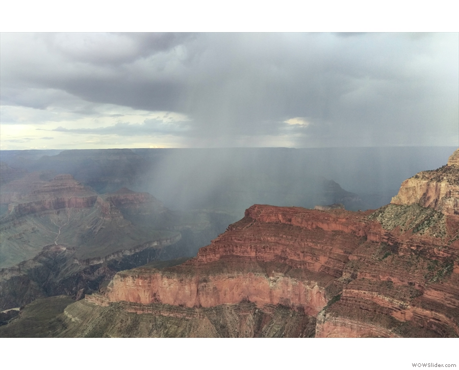 You may have noticed the trail was wet. That was thanks to this shower which passed over.