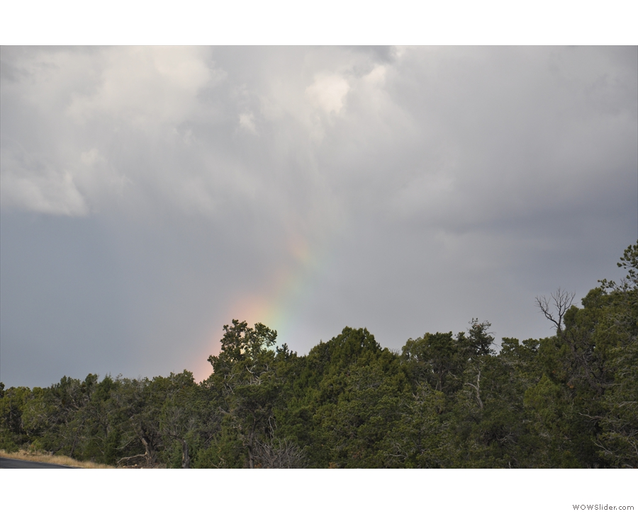 And, looking in the other direction, another rainbow!
