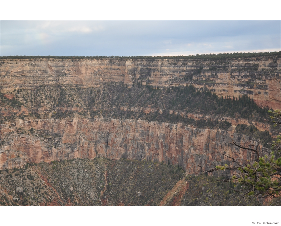 The Rim Trail is now going northwest again. Here's another view of the Great Mohave Wall.