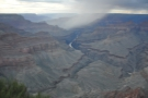 This is looking north, right along the Colorado River at the bottom of the Grand Canyon.