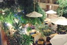 ... out over the restaurant which is located in the middle of the hotel.