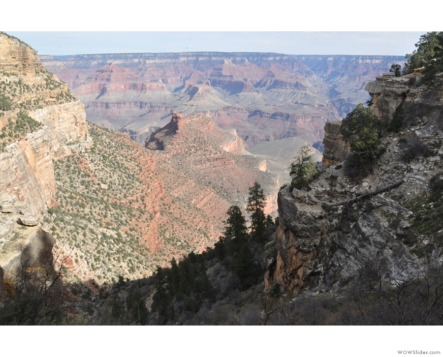 And a look down into the Canyon, the trail hidden from view on the right.