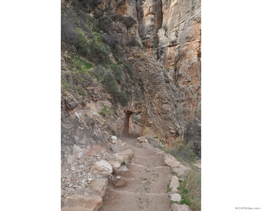 So close, in fact, that the trail actually tunnels through the rock at one point.