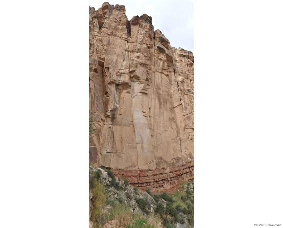 More close up views of the shear walls of rock on the western side of the valley.