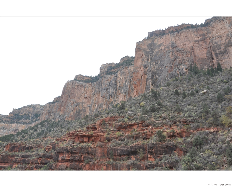 The valley's western side towers over me. I was up there the day before on the Rim Trail!