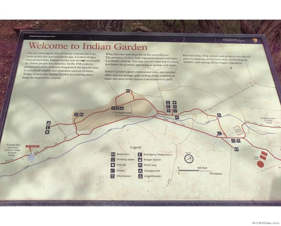 ... it reaches Indian Garden, a thin stand of trees running along the Garden Creek.